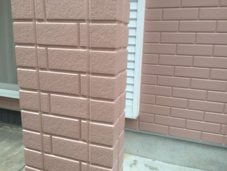 外壁の旧コーキング打ち替え施工邸のAfter(施工後)の様子