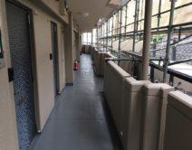 ノンスリップ仕上げ!玄関通路床面施工の写真