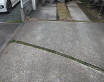 土間・駐車場土間・ブロック面・その他:高圧洗浄施工邸のBefore(施工前)の様子