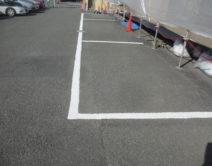 ハードライン!駐車場ライン引きの写真