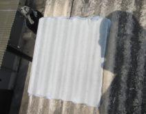 スレート穴補修施工(サービス工事対応)の写真