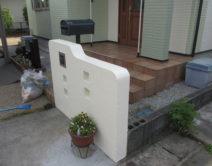 外部・門柱塗装(花壇撤去)の施工の写真