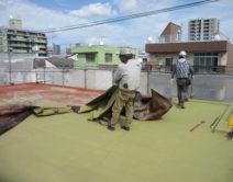 陸屋根の防水施工!邸のBefore(施工前)の様子