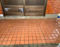 薬剤洗い!玄関タイルきれいになりますの写真