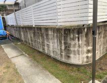 駐車場・ブロック塀(塗装面)の施工邸のBefore(施工前)の様子