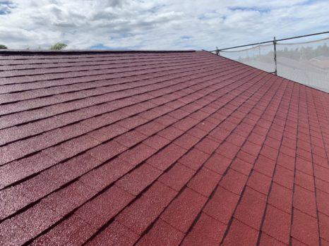 屋根・水性シングサーフRC-112施工邸のAfter(施工後)の様子