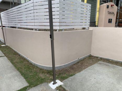 駐車場・ブロック塀(塗装面)の施工邸のAfter(施工後)の様子